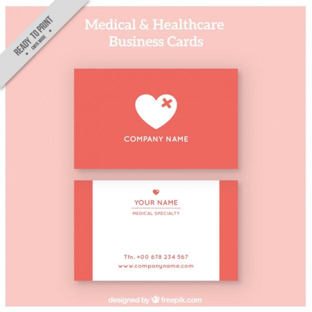 Modelli di Biglietti da Visita per Infermieri - Healthcare corporative card