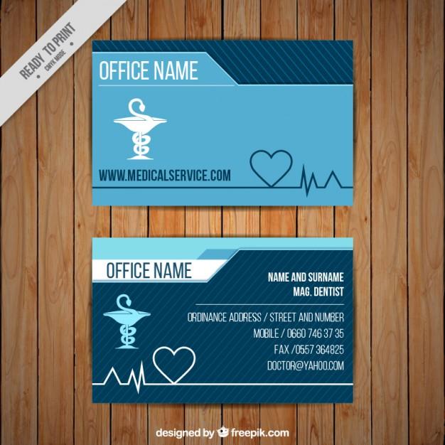 Modelli di Biglietti da Visita per Infermieri - Medical caduceus card