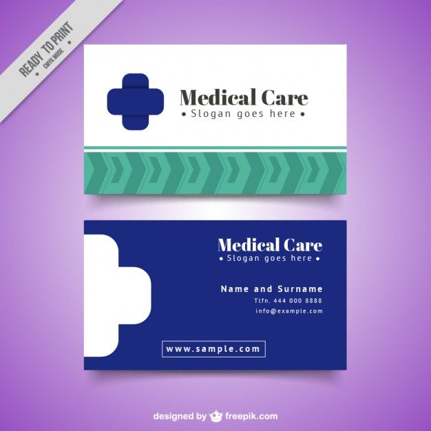 Modelli di Biglietti da Visita per Infermieri - Medical card simple design