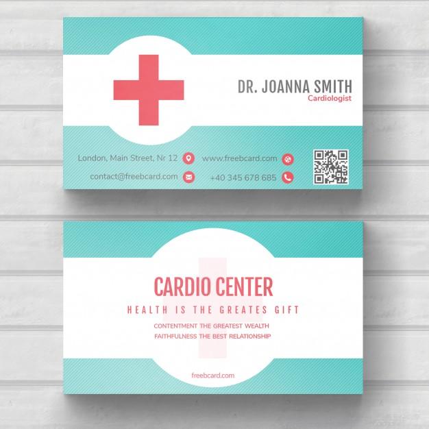 Modelli di Biglietti da Visita per Infermieri - Medical classic card
