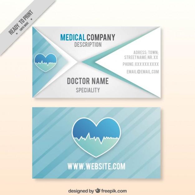 Modelli di Biglietti da Visita per Infermieri - Medical company card