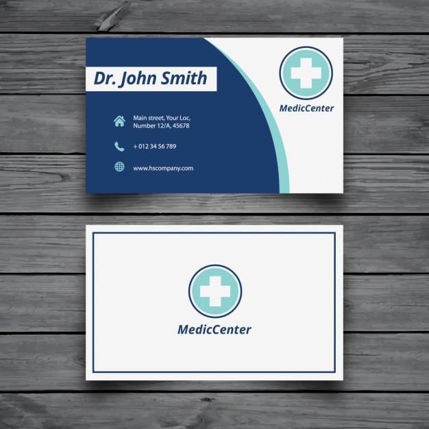 Modelli di Biglietti da Visita per Infermieri - Medical modern card