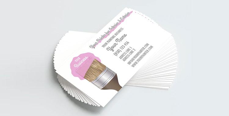 Modelli di biglietti da visita per imbianchini gratis