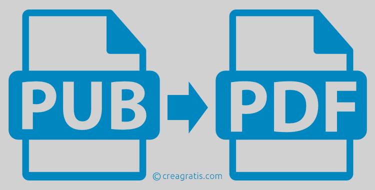 Convertire PUB in PDF online e gratis
