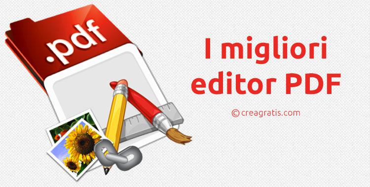 Immagine sugli editor PDF