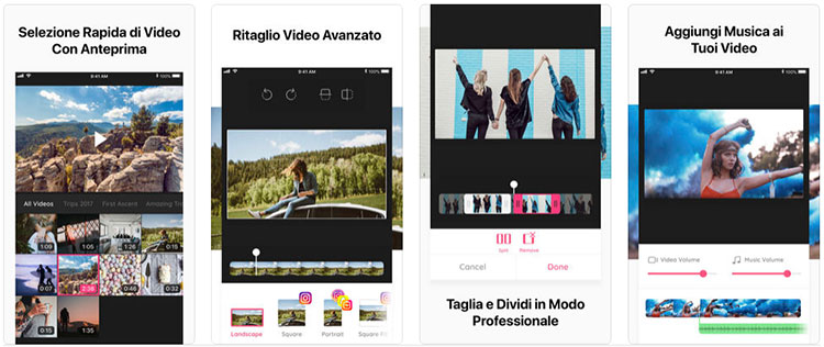 App Ritaglia Video per iPhone