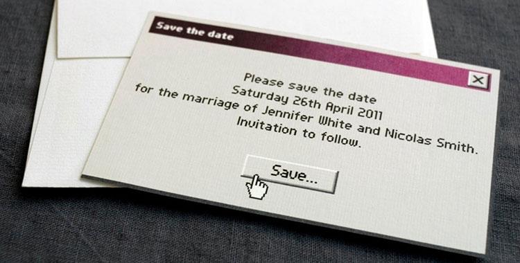 Immagine di un biglietto d'invito molto originale