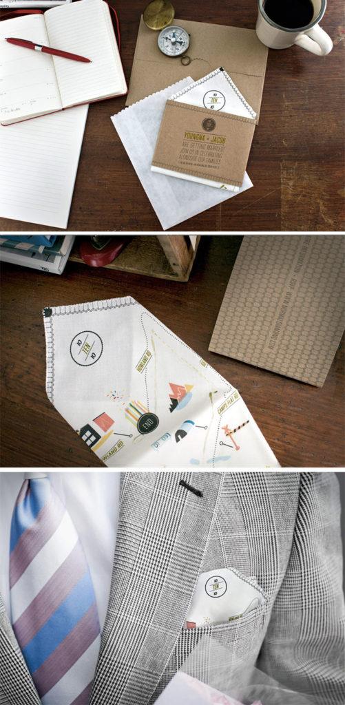 Handkerchief Invite