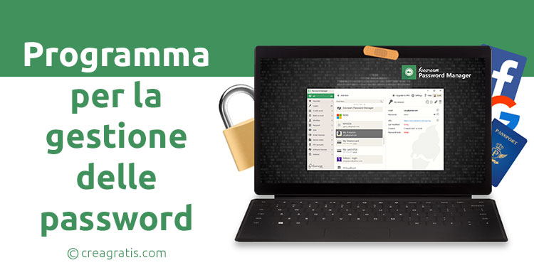 Programma per gestire le password su Windows