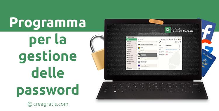 Programma per gestire le password su Windows