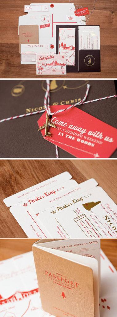 Travel-Inspired wedding invitation