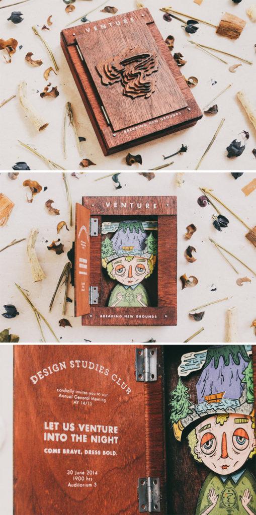 Venture – the wooden invite