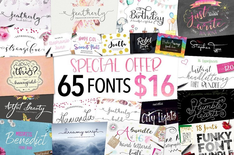 65 In 1 – Font Bundle