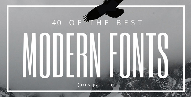 I migliori font moderni