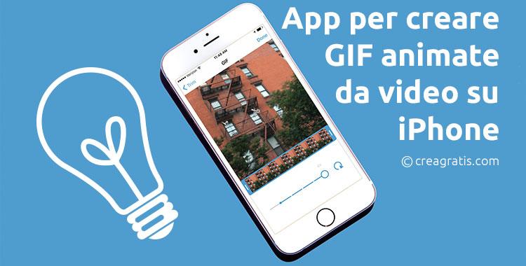 App iOS per creare GIF su iPhone