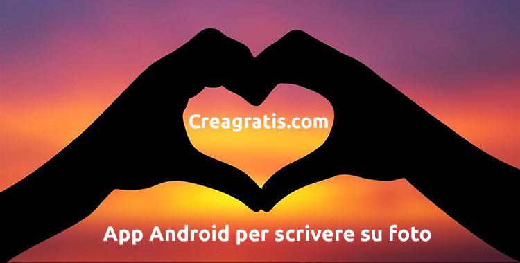 App Android per scrivere su foto
