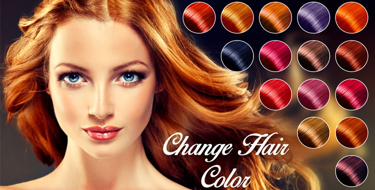 Modifica colore capelli foto online