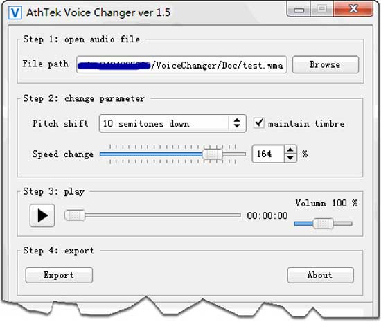 Software Athtek Voice Changer