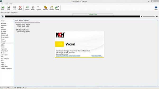Software Voxal Changer