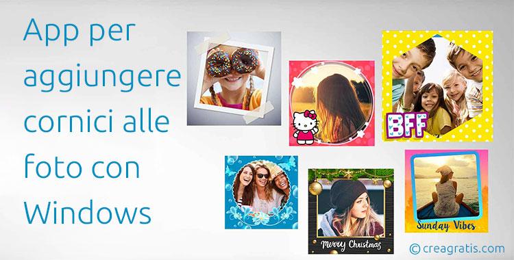 App per aggiungere cornici alle foto