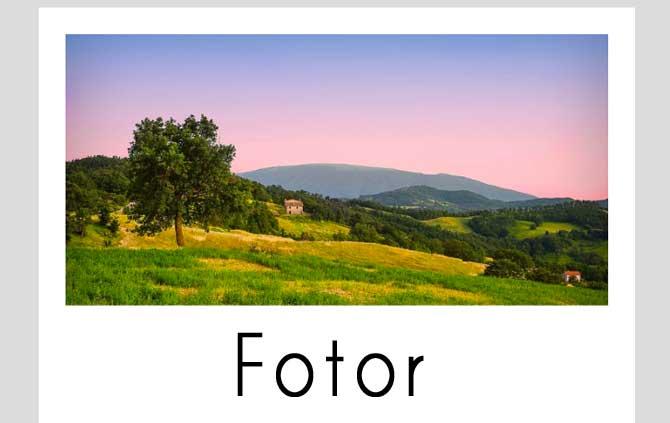 Fotor effetto polaroid
