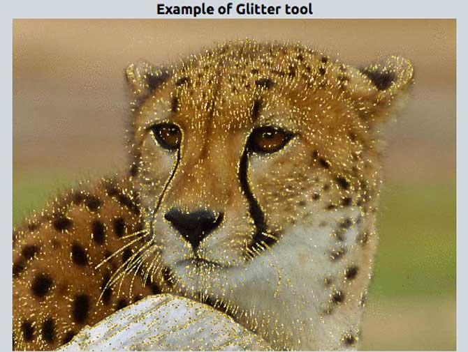 LunaPic effetto Glitter