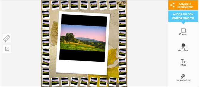 Pho.to effetto polaroid online