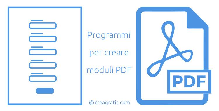 Programmi per creare moduli PDF
