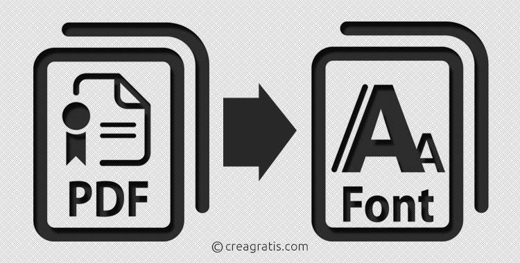 Riconoscimento font da PDF online