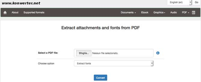 KonWerter Estrarre font da pdf