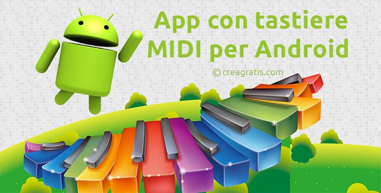App con tastiere MIDI per Android