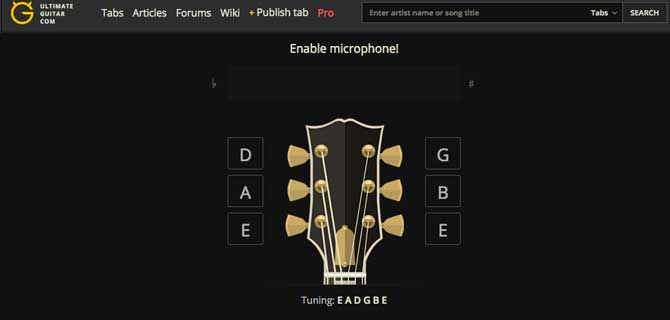 Online Guitar Tuner (by Ultimate-Guitar)