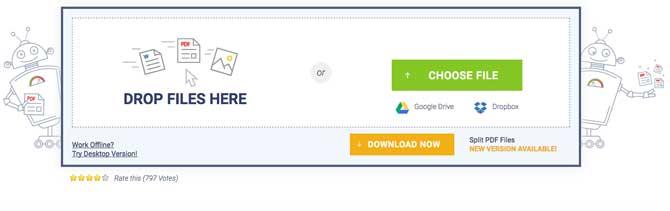 dividere pdf online con sodapdf
