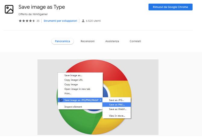 Come Salvare le Immagini WebP in JPG o PNG su Chrome con Estensioni