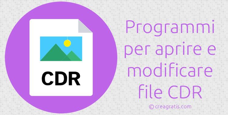 Programmi per aprire e modificare file CDR