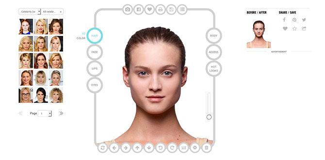 Simulazione virtuale taglio di capelli