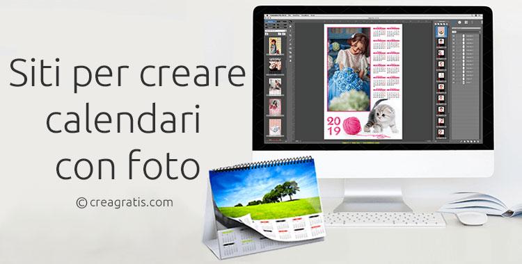 Siti per creare calendari con foto online